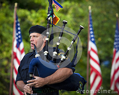 Pittsburgh Police Emerald Society Piper Editorial Stock Photo