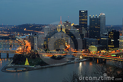 Pittsburgh Skyline Editorial Photo