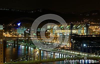 Pittsburgh waterfront at night