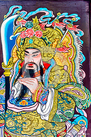 Pittura di vecchio stile del cinese dio chinatown bangkok for Piani di fattoria vecchio stile