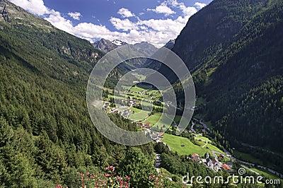 Pitztal Valley in Tirol