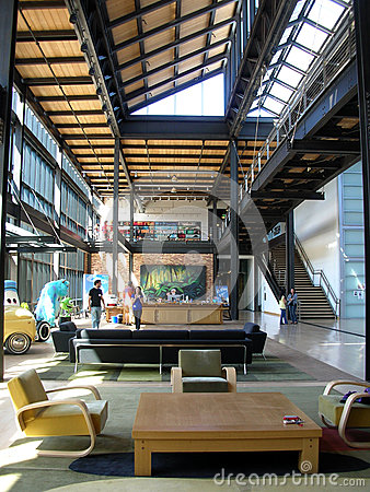 Pixar studio, interior loft lobby Editorial Image