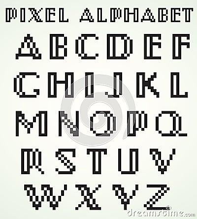 Pixel Alphabet Royalty Free Stock Images Image 30296639