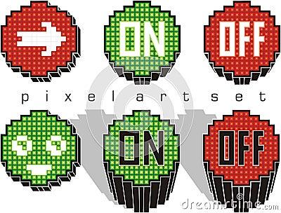 Pixel art buttons