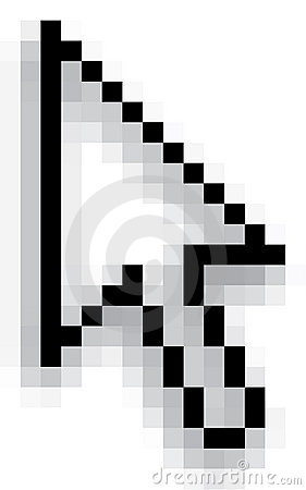 Pixel Computer Cursor Royalty Free Stock Images - Image ... Laptop Vector Illustration