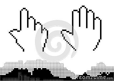 Pixel hand