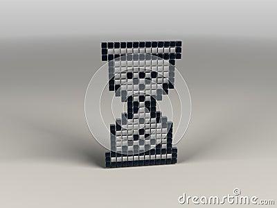 Pixel hourglass