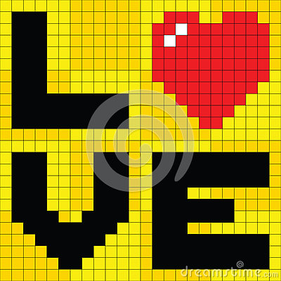 8-bit Pixel Love Heart