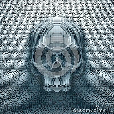 Free Pixel Skull Royalty Free Stock Image - 29756926