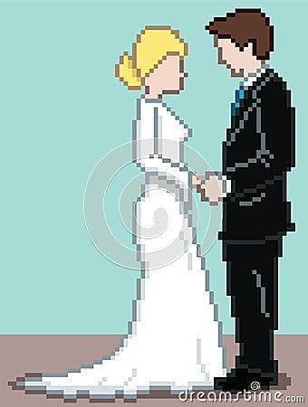 Pixel Wedding Background