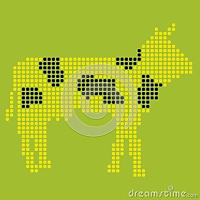 Pixelated cow