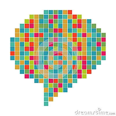 Pixelated diversity speech bubble
