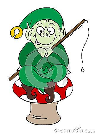 Free Pixie Sat On Mushroom Royalty Free Stock Images - 10302889