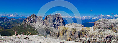Piz Pordoi, Dolomiti mountains in Italy