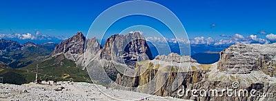 Piz Pordoi, Dolomiti mountains in Italy