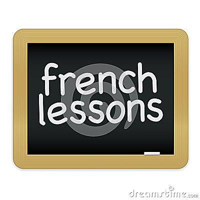 Pizarra de las lecciones francesas