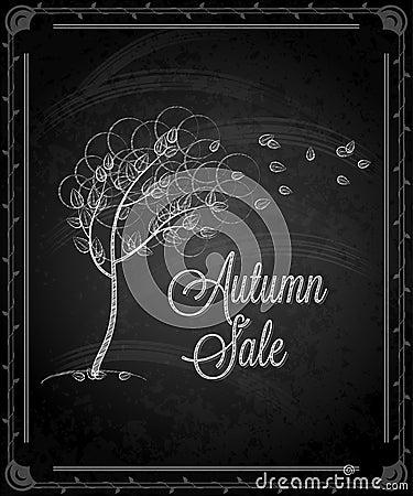 Pizarra - menú del otoño del marco