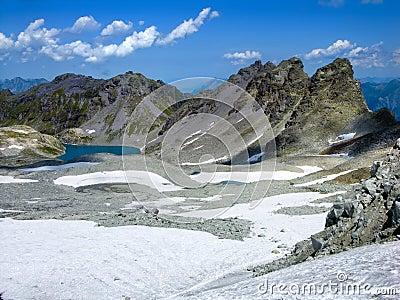 Pizol Gletchcer in Switzerland Alps