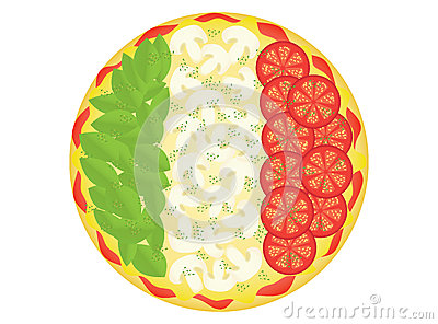 Pizza as Italian flag