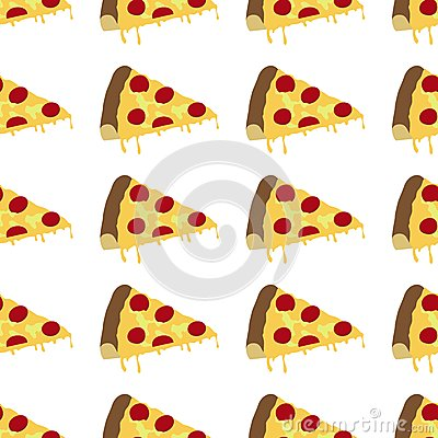 Pizza background pattern seamless Vector Illustration