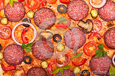 Pizza background.