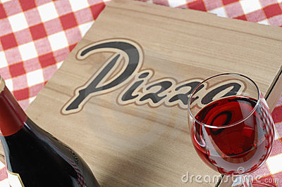 Pizza in box to take-out