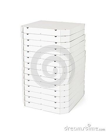 Pizza boxes  on white