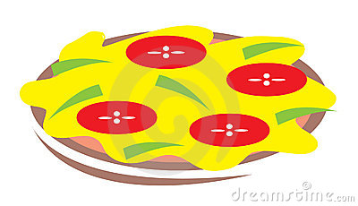 Pizza cartoon illustration