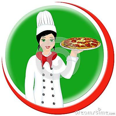 Italian Chef Clip Art Lady – Clipart Download