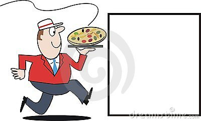 Pizza delivery cartoon
