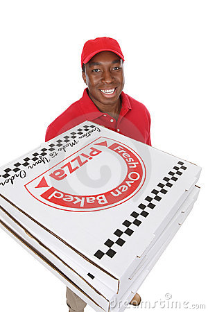 Free Pizza Delivery Man Royalty Free Stock Photo - 7531485