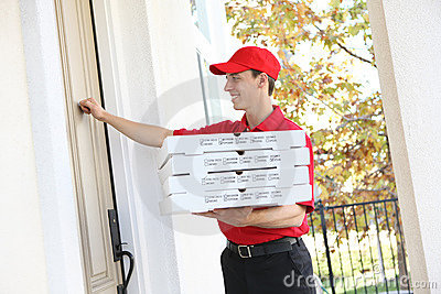 Pizza Delivery Man Stock Images Image 7593304