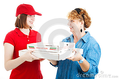 Pizza Delivery to Customer