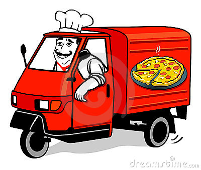 Pizza delivery van