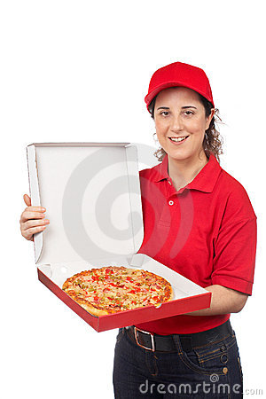 Pizza delivery woman