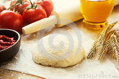 Pizza dough still life