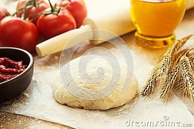 Pizza dough still life