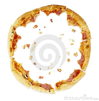 Free Pizza Food Meal Eaten Crumbs Stock Images - 13699844