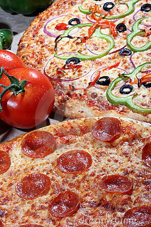 Pizza With Fresh Toppings Royalty Free Stock Image - Image ...