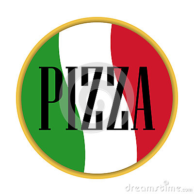 Pizza icon vector italian Vector Illustration