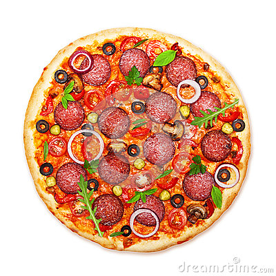 Free Pizza Isolated Stock Image - 34513031