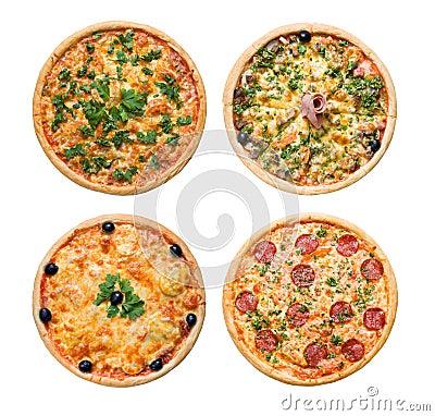 Pizza and italian kitchen  Isolated