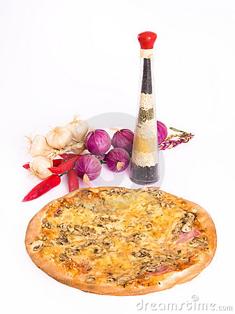 Pizza and kitchen decoration