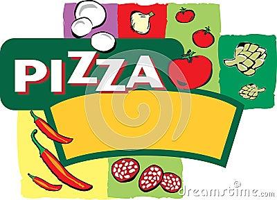 Pizza Label Illustration