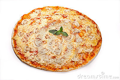 Pizza with mushrooms 2