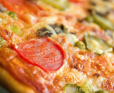 Pizza mushrooms and vegetable
