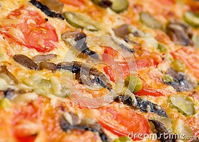 Pizza mushrooms and vegetable