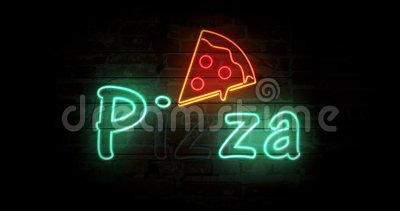 Pizza neon sign  Fastfood, advertisement