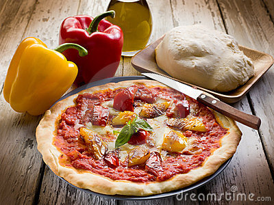 Pizza with pepper