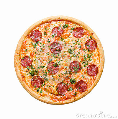Pizza Pepperoni  isolated